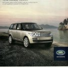RANGE ROVER - 2013 -  LUXURY IS A NECESSITY LAND ROVER TURKISH PRINT AD