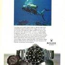ROLEX - 1987 - SCUBA DEEP SEA DIVING SUBMARINER SEA-DWELLER TURKISH PRINT AD