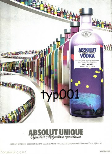 ABSOLUT - 2012 - UNIQUE EDITION TURKISH PRINT AD - 04