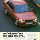 BMW - 1988 - 316i NEW 4 CYLINDER BMW IS STRONGER AND MORE AGILE TURKISH PRINT AD