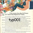 AIR FRANCE - 1974 FRENCH PRINT AD - CRISIS OR NO CRISIS FIRST CLASS - BLACHON