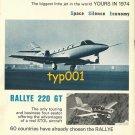 AEROSPATIALE - 1973 - CORVETTE JET PRINT AD & SELENIA AIR TRAFFIC CONTROL AD