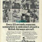BOAC - BEA - BRITISH AIRWAYS - 1974 -  EVERY 23 SECONDS SOMEONE PRINT AD