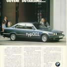 BMW - 1989 - YOU'D FEEL TRUST WITH BMW TURKISH PRINT AD
