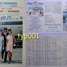 AIR FRANCE - 1975 - FRANCE-SWITZERLAND TIMETABLE & TARIFFS