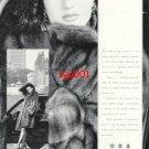 BIRGEN CHRISTENSEN - 1989 - LADY IN FUR COAT PRINT AD