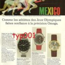 OMEGA - 1968 - MEXICO OLYMPICS FRENCH PRINT AD - ATHLETES TRUST OMEGA
