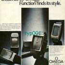 OMEGA - 1974 - DE VILLE WATCH -  FUNCTION FINDS ITS STYLE PRINT AD