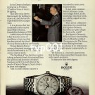ROLEX - 1979 - JOSE IGNACIO DOMENECQ THE KING TASTER PRINT AD - ROLEX DATEJUST