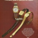 ORIENT - 1980 - HIGH FASHION PRECISION QUARTZ WATCHES FOR LADIES PRINT AD
