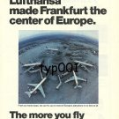 LUFTHANSA - 1975 - FRANKFURT THE CENTER OF EUROPE PRINT AD