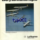 LUFTHANSA - 1976 - NOW FIRST CLASS ON EVERY LUFTHANSA FLIGHT  PRINT AD