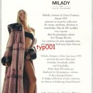 MILADY - 2000 - FUR HAUTE FOURRURE FRENCH PRINT AD