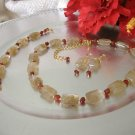 FREE SHIPPING Coffee Quartz and carnelian set