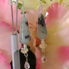 FREE SHIPPING Sesame Jasper earrings