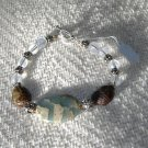 FREE SHIPPING Very beautiful impression jasper and jasper scarabs bracelet Gotta See