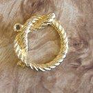 DESTASH gold plated rope knot design pendant