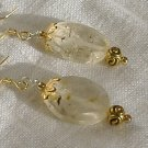 FREE SHIPPING Beautiful faceted quartz earrings