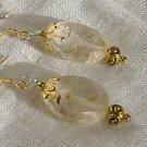 FREE SHIPPING Beautiful faceted quartz earrings