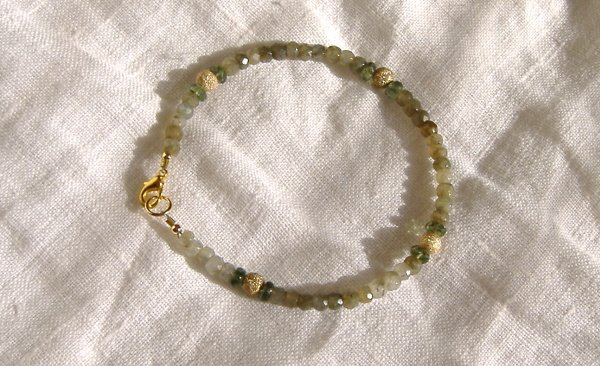 FREE SHIPPING Green jasper and apatite bracelet