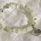 FREE SHIPPING new jade chips bracelet with NOT FOR SALE charm