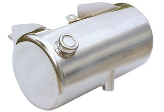3 1/2 Quart Oil Tank - Round - Chrome or Raw