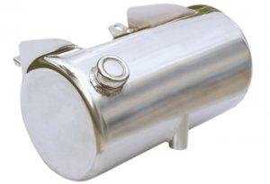 3 1/2 Quart Oil Tank - Round - Chrome or Raw
