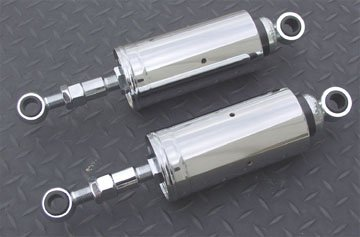 Adjustable Chrome Shocks for Softail