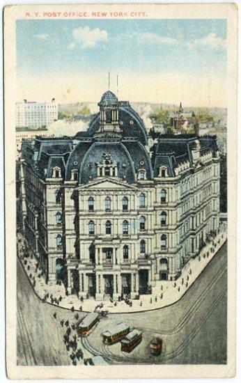 NY Post Office, New York City c1921