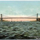 The Williamsburg Bridge, East River, New York c1910s