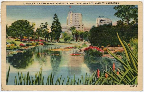 Elks Club / Westlake Park, Los Angeles, CA c1940