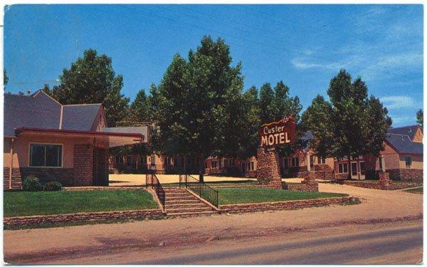 Custer Motel, Custer, SD c1963