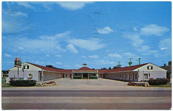 The Tops Motel on US 75, Topeka, KS c1963