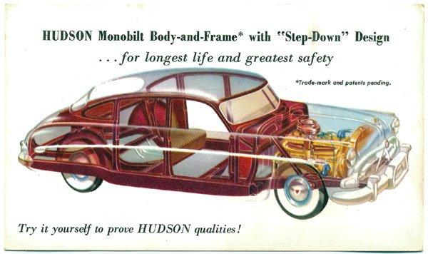 Hudson Automobile Advertising Postcard, c1950s