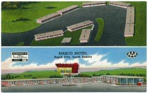 Marco Motel, Rapid City, South Dakota Postcard
