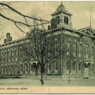 High School Building, Ashland, NE c1910 Postcard