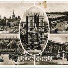 Real Photo Postcard - 5 London Scenes, c1930s