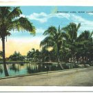 Pancoast Lake, Miami Beach, FL c1932 Postcard