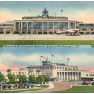 Terminal, Washington National Airport Linen Postcard
