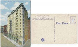 Hotel Fountain Square, Cincinnati, OH Linen Postcard