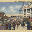 Daily Scene on the Pike, Long Beach, CA c1950 Postcard