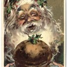 Santa Serving Up Christmas Feast c1910 Postcard