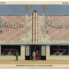 Paradise Cafeteria, Miami, FL c1940s Linen Postcard