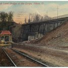 High Level Bridge at Gorge, Akron OH c1912 Postcard