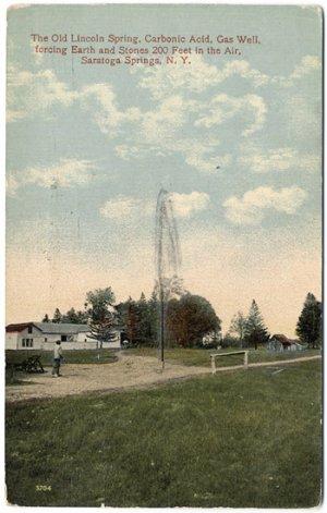 Old Lincoln Spring, Saratoga Springs, NY Postcard