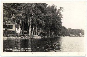 Devereaux Pine Camps, North Anson, ME 1938 RPPC