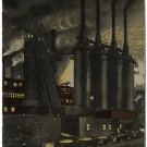 Night Mill Scene, Pittsburgh, PA c1910s Postcard
