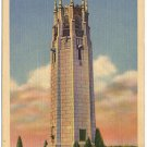 Singing Tower, Omaha, NE Linen Postcard