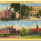 Ohio State University, 4 Views c1930s Linen Postcard