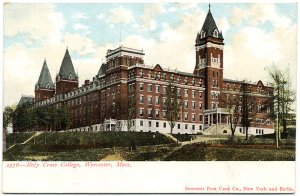 Holy Cross College, Worcester, MA pre-1910 Postcard